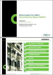 H i Q tl R t Q4/2011 Hanoi Quarterly Report Q4/2011 AGENDA - CBRE