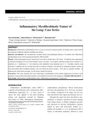Inflammatory Myofibroblastic Tumor of the Lung: Case ... - Tanaffos