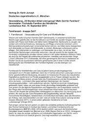 Vortrag Dr. Karin Jurczyk Deutsches Jugendinstitut e.V. ... - Nordkirche