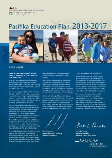 Pasifika Education Plan 2013-2017