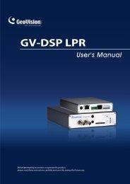 GV-DSP LPR - Surveillance System, Security Cameras, and CCTV ...