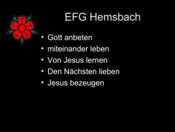 ihr werdet die Kraft des Heiligen Geistes empfangen - EFG Hemsbach