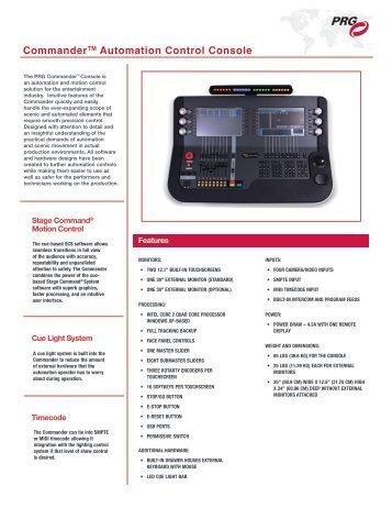 CommanderTM Automation Control Console - PRG