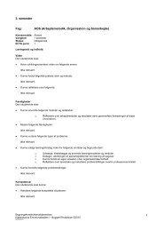 3. semester 1 Fag: AOS (Arbejdsmetodik, Organisation og ... - KEA