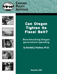 Can Oregon Tighten its Fiscal Belt? - Cascade Policy Institute