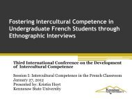 Fostering Intercultural Competence in Undergraduate ... - CERCLL