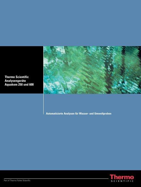 Thermo Scientific Analysengeräte Aquakem 250 und 600