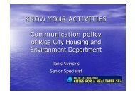 Communication policies