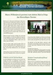 Newsletter Oktober 2012 - Golfclub am Meer