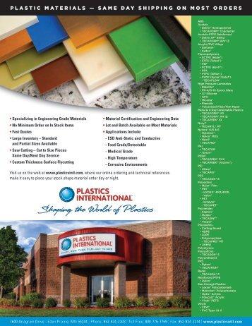 PI-Thermoplastics Line Card