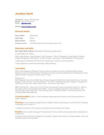 Rics emea apc cv template pdf quantity surveying cv template jonathon savill yelopaper Images
