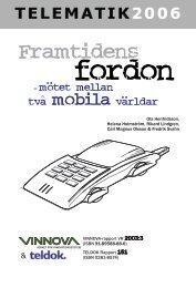 Framtidens fordon - mötet mellan två mobila världar - Vinnova