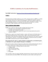 FERPA Guidelines for Faculty/Staff/Students - Alabama A&M ...