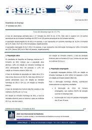 Estatísticas do Emprego 1º trimestre de 2013 Taxa de ... - INE