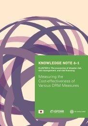 Economics of Disaster Risk, Risk Management and Risk Financing