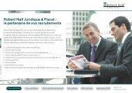 Robert Half Juridique & Fiscal : le partenaire de vos recrutements
