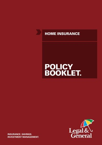 Home Insurance Policy - Legal & General