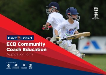 3 ECB CCEd CA Application Forms LM - Essex Cricket