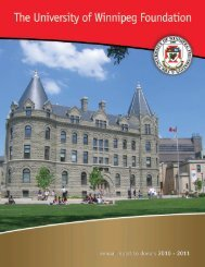 2010-2011 Annual Report - University of Winnipeg