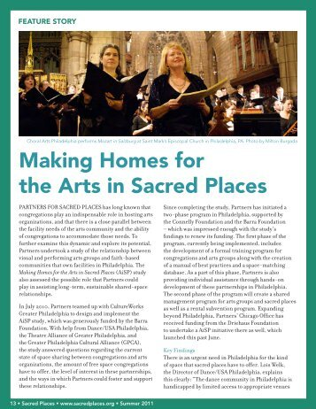 Making Homes for the Arts in Sacred Places - Partners for Sacred ...