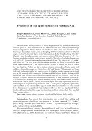 Production of four apple cultivars on rootstock P 22 - Sodininkystė ir ...