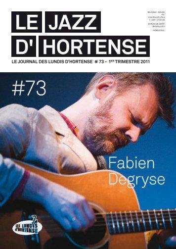 Le JAZZ d' Hortense - Les Lundis d'Hortense