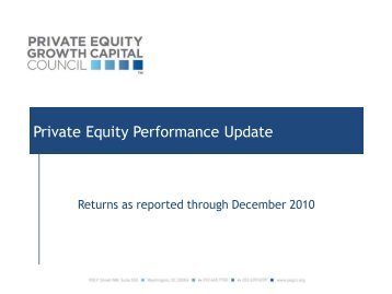 Private Equity Performance Update - Private Equity Growth Capital ...