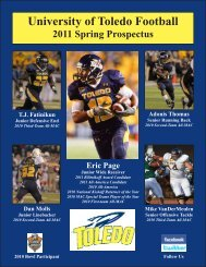 2011 Toledo Spring Football Prospectus - University of Toledo ...