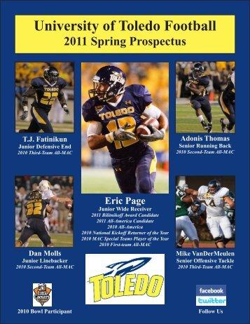 2011 Toledo Spring Football Prospectus - University of Toledo ...