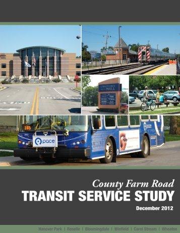 County Farm Road Transit Service Study (December, 2012) - RTAMS