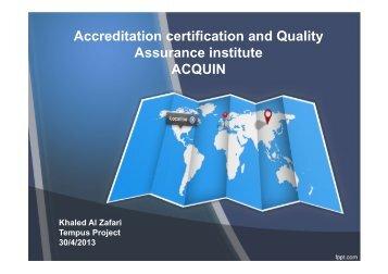 Al Zafari - Academic committee - 21 st meeting - Tempus Accreditation