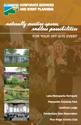 naturally creative spaces, endless possibilities - Lake Metroparks