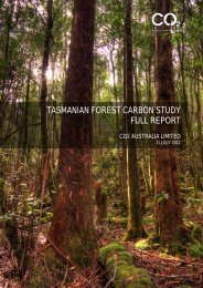 tasmanian forest carbon study full report - Department of Premier ...