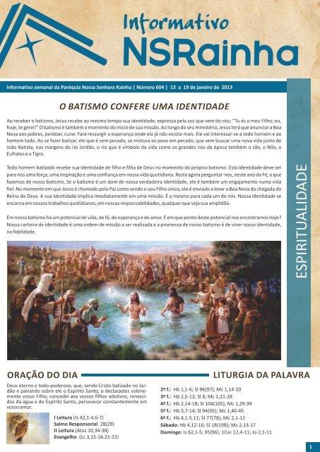 Informativo 604.pdf - PARóQUIA NOSSA SENHORA RAINHA