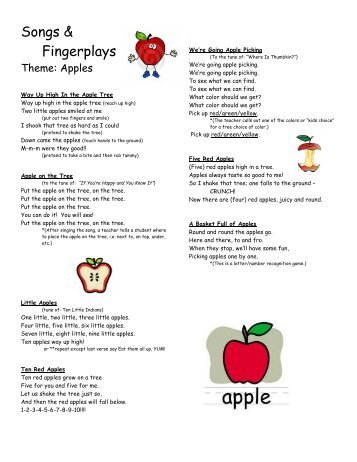 apple songs preschool fingerplays colors shapes 09 preschool 239
