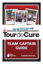 team captain guide - Tour de Cure - American Diabetes Association