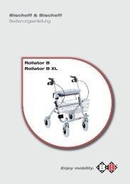Bischoff & Bischoff Bedienungsanleitung Rollator B Rollator B XL