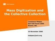 Presentation Title - Digital Library Federation