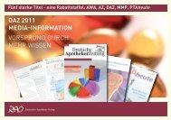 DAZ 2011 Media-information Vorsprung durch mehr Wissen