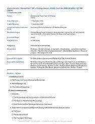 """Cementownia """"Nowa Huta"""" SA v Turkey, Award, ICSID Case No ..."""