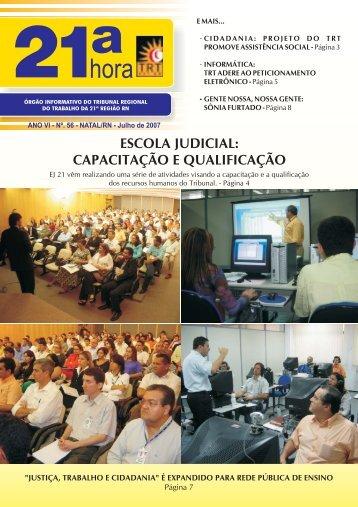 ESCOLA JUDICIAL: CAPACITAÇÃO E QUALIFICAÇÃO - Tribunal ...