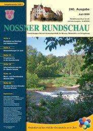 240. Ausgabe Juni 2009 - Nossner Rundschau