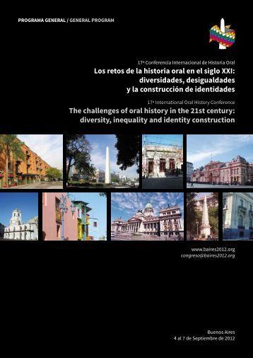 Los retos de la historia oral en el siglo XXI - Asociación de Historia ...