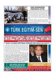 """"""" 2009 YILINDA EĞİTİMİN SORUNLARI DAHA DA ... - Türk Eğitim-Sen"""