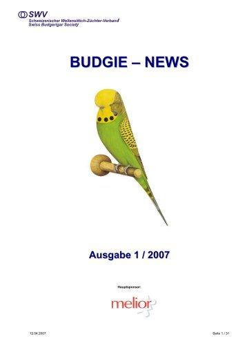 BUDGIE – NEWS - Schweizerischer Wellensittich-Züchter-Verband