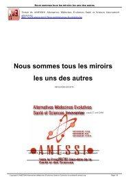 Nous sommes tous les miroirs les uns des autres - AMESSI ...