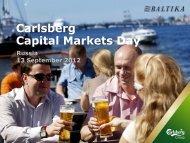 Carlsberg Capital Markets Day - Carlsberg Group