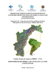 Disponibilidade Hídrica Quantitativa e Usos Consuntivos - CBH Doce