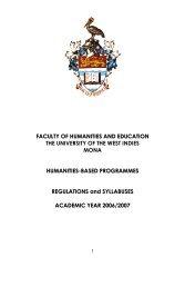 2006/2007 Academic year - Uwi.edu