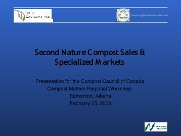Second Nature C ompost Sales & Specialized M arkets